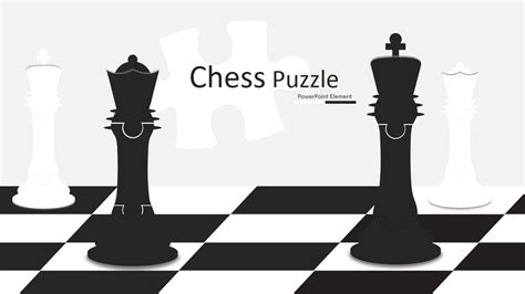 King and Queen Chess Puzzle Shapes for PowerPoint - SlideModel
