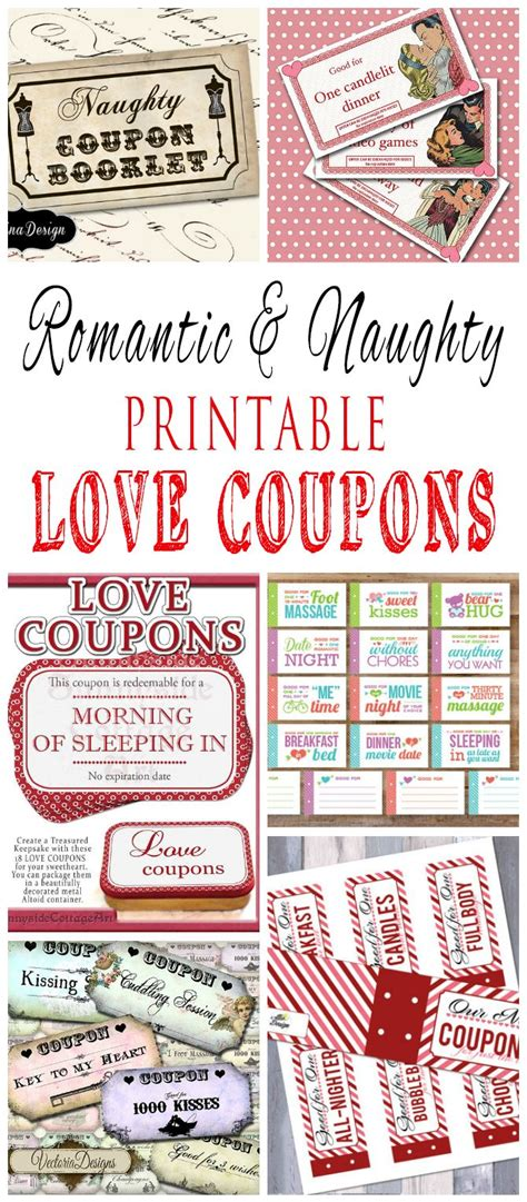 Romantic And Naughty Printable Love Coupons For Him | Love