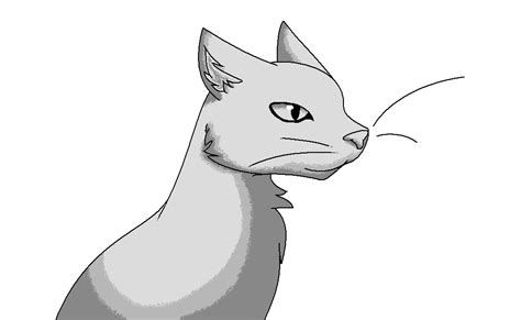 Shaded cat lineart by silverfang3000 on deviantART