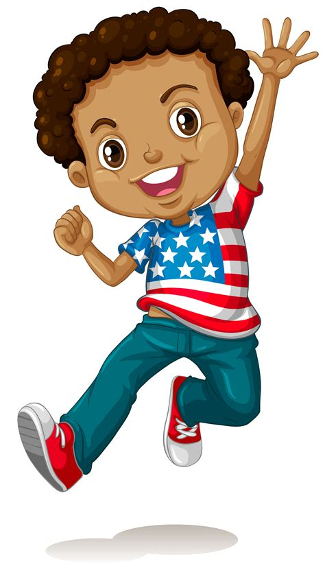 African american boy jumping - Download Free Vectors