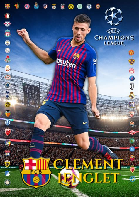 Clement Lenglet FC Barcelona Template   PosterMyWall