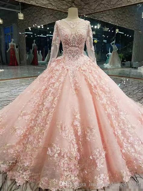 Luxury Pink New Designer Ball Gown Prom Dresses Long